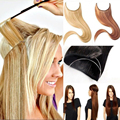100g 20 inch no clip Hair Extension Hairpiece Synthetic Straight Hair Extensions Mega Hair Piece 25 Colors Available