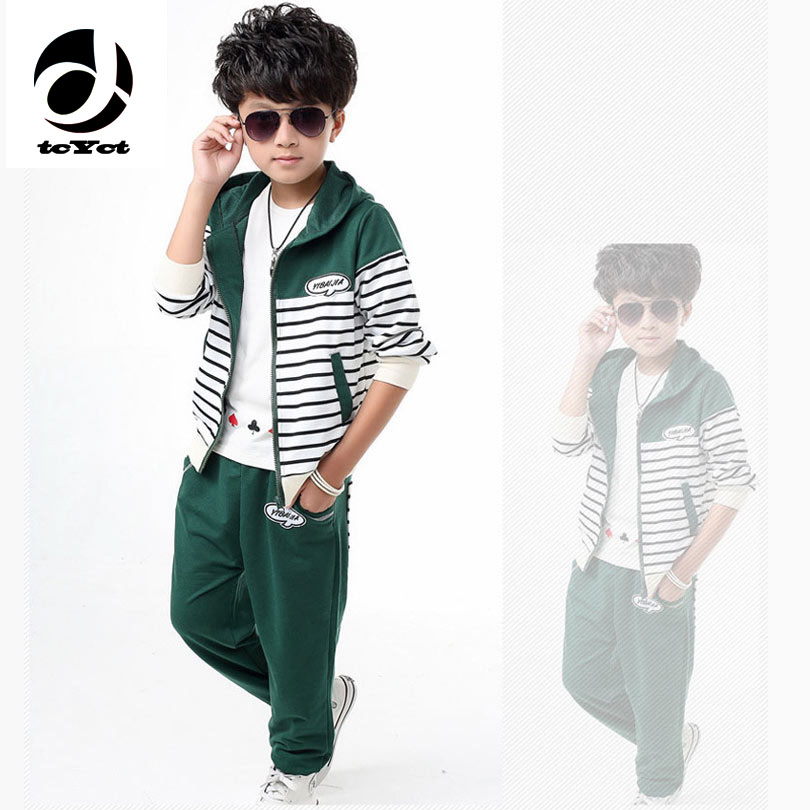 5-14years Striped Kids Clothes Baby Girls Kids School Uniforms Sport Suit Top+Pants Clothing Sets Children Girls Tracksuits
