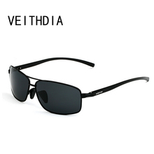 Veithdia Polarized mens sunglasses brand designer Aluminum Frame Sun Glasses Men Driving Goggle Eyewear Accessories shades 2458