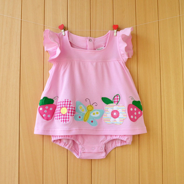 Baby Girl Summer Cotton Bodysuit