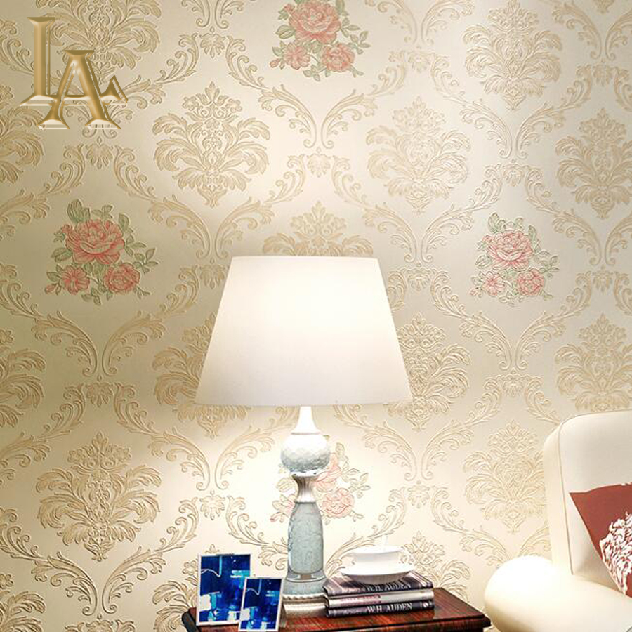 European Luxury Pink Beige Flower Damask Wallpaper For Walls 3 D Embossed Floral Wall Paper For Living Room Bedroom Home Decor simple luxury modern striped wallpaper for walls 3 d bedroom living room sofa tv background pink beige stripes wall paper rolls