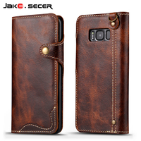 Genuine Leather For Samsung Galaxy S8 Case Wallet Flip Cover Luxury For Samsung Galaxy S8 Plus