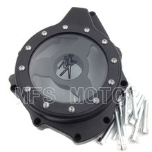 все цены на Motorcycle Part Glass see through Engine Stator Cover For Suzuki GSX1300R Hayabusa 1999-2013 BLACK онлайн