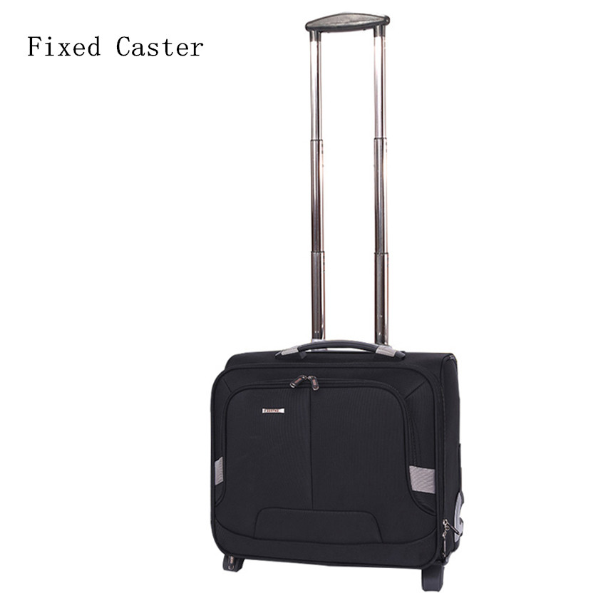 16 inches nylon one-way round small commercial computer trolley luggage,man high quality travel luggage,boarding luggage box cosplay guilty crown animation hand model toys animation model desktop display american girl hands a doll