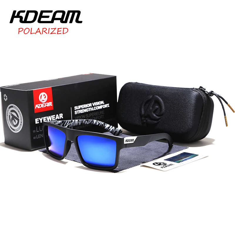 Highly Recommended Kdeam Mirror Polarized Sunglasses Men Square
