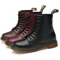 คู่ชายรองเท้า Winter Snow Boots Martins รองเท้าหนังผู้ชายรองเท้าข้อเท้ารองเท้าคนรักรองเท้าผ้าใบ Hombre รองเท้าส้นเตี้ย hommes