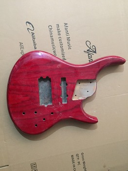 Afanti Music gitara elektryczna DIY korpus gitary elektrycznej (ADK-463) tanie i dobre opinie Beginner Unisex Do profesjonalnych wykonań Nauka w domu LIPA Drewno z Brazylii None Electric guitar Electric guitar body