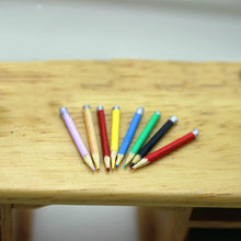 1/12 Dollhouse Miniature Accessories Mini Colored Pencils Simulation Model Toys for Doll House Decoration(China)