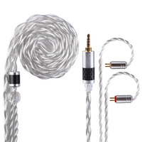 AK Kinboofi 4 Core Pure Copper Silver Plated Gold Mix Cable 2.5/3.5/4.4mm Balanced Earphone Upgrade Cable With MMCX/2Pin ZSN ZSX