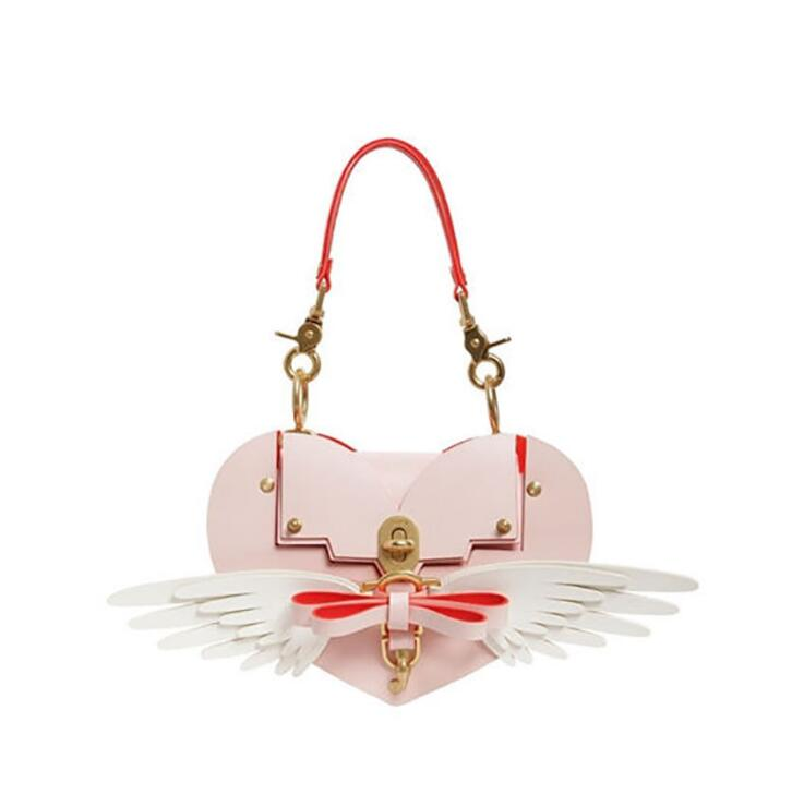 Angelatracy 2018 Fashion Panelled ins Hot Lock Rivet Bow Wing Arrow Lady Heart Shaped Cover Women Crossbody Bag Evening Bag Tote cylinder shaped rivet crossbody bag