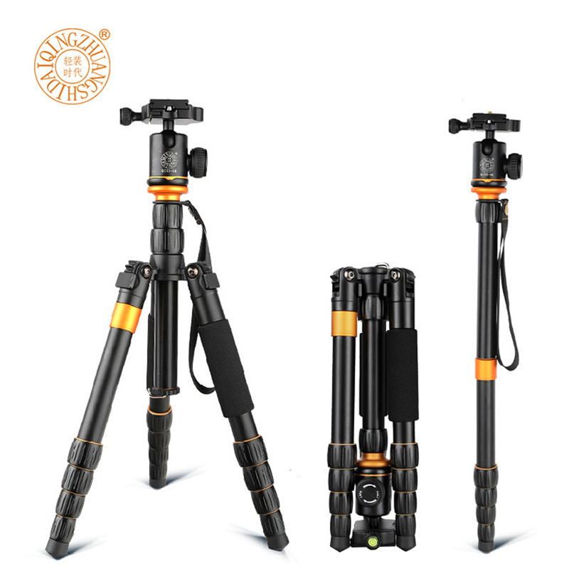 QZSD Q278 Lightweight Compact Tripod Monopod&Professional Ball Head for Canon Nikon DSLR Camera Portable Camera Stand Accessory avel avs400dvr 02 для jaguar land rover
