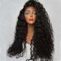 Fantasie Schönheit 180% Denstiy Glueless Pre Gezupft Spitze front Synthetische Haar Perücken Lockige Perücke Wärme Resistatn Faser Mit Baby Haar