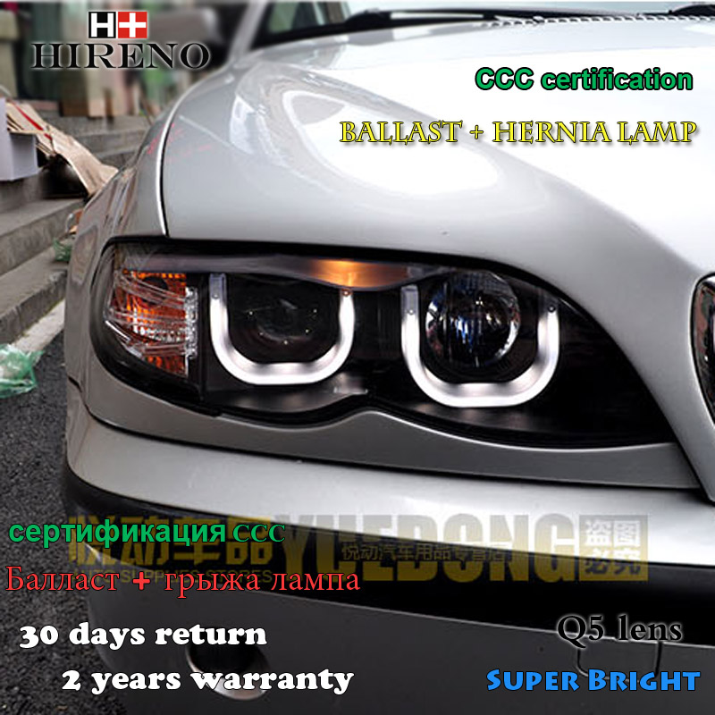 Hireno Headlamp for 2002-2006 BMW E46 318 320 325CI 330CI Headlight Assembly LED DRL Angel Lens Double Beam HID Xenon 2pcs bmw 318 в москве