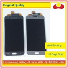 """Originale 5.0 """"Per Samsung Galaxy J3 Prime 2017 J3 EMERGONO J327 Display LCD Con Pannello Touch Screen Digitizer Pantalla completo"""
