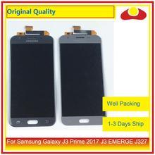 """Oryginalny 5.0 """"dla Samsung Galaxy J3 Prime 2017 J3 pojawiają się J327 wyświetlacz LCD z ekranem dotykowym panel digitizera Pantalla pełna"""
