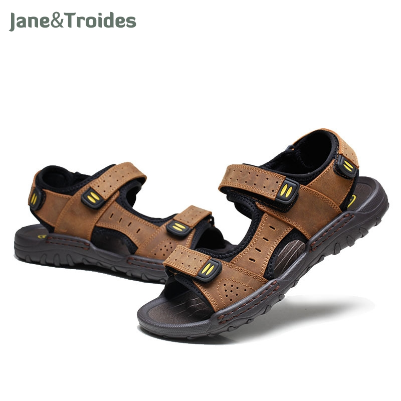 Hot Sale New Fashion Summer Leisure Beach Men Shoes High Quality Leather Sandals The Big Yards Mens Sandals