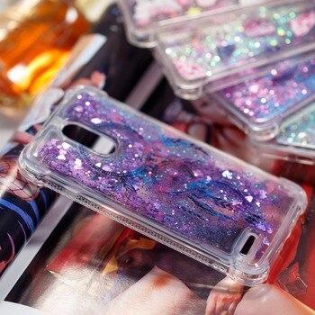 Чехол из мягкого ТПУ с блестящим песком для LG STYLO3 Stylo 3plus stylus 3 LS777 чехлы с разноцветными песками