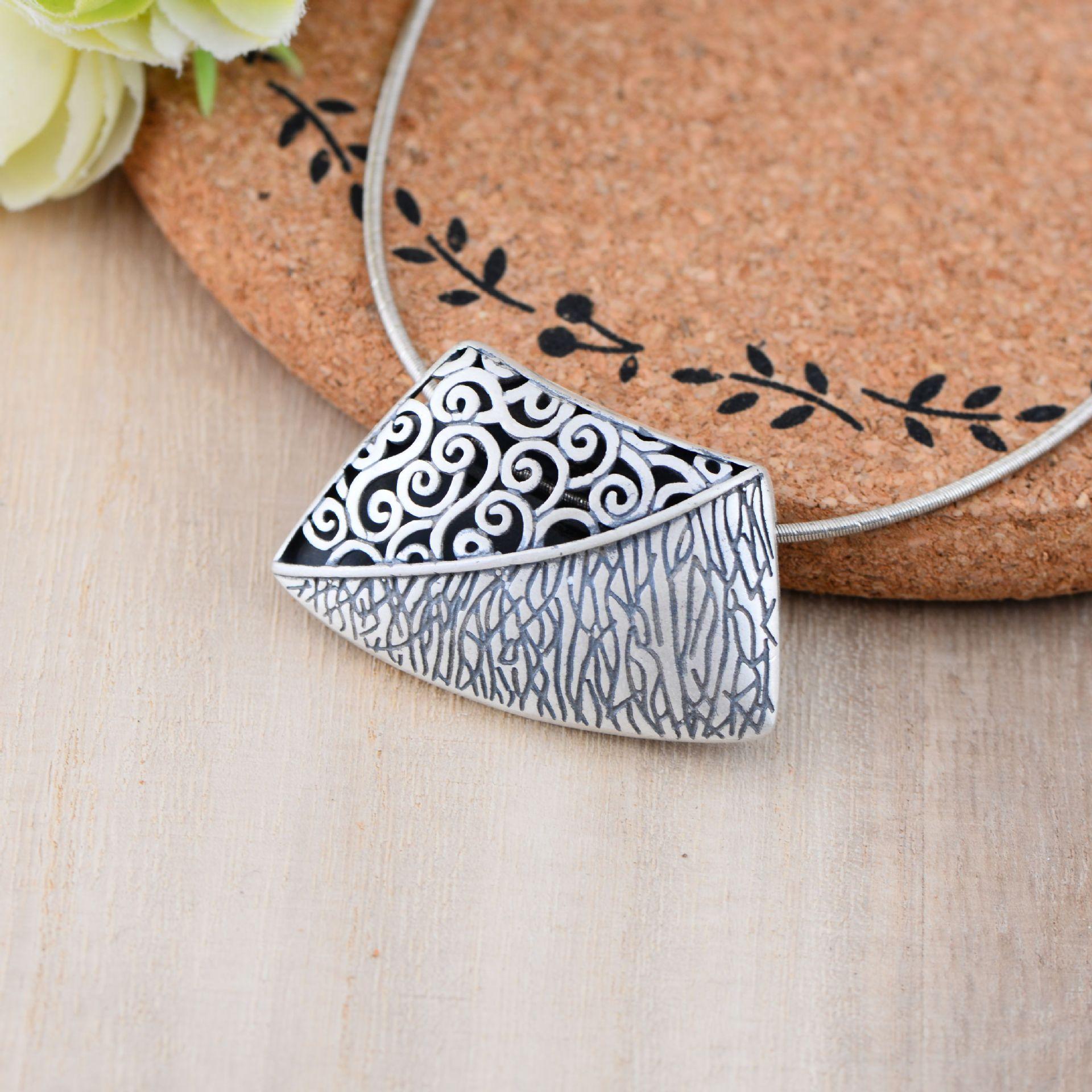 925 pendentif en argent Sterling rétro sac à main collier pour les femmes Thai argent bijoux fins cadeau CH046872