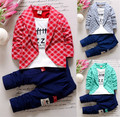 2017 New Chidren Kids Boys Clothing party Set Autumn  Coat Suits Fall Cotton Baby Boys Clothes jacket + pant 2-Piece Suit Set