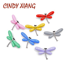CINDY XIANG Colorful Resin Dragonfly Brooches for Women Summer Style Candy Color Insect Pin Fashion Jewelry New 2019 Good Gift