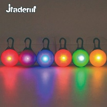 Jiaderui Mini LED Night Light Clip-on Safety Colorful Keychain Light Carabiner Cat Dog Collar Lamp With Battery Ornaments Lamp