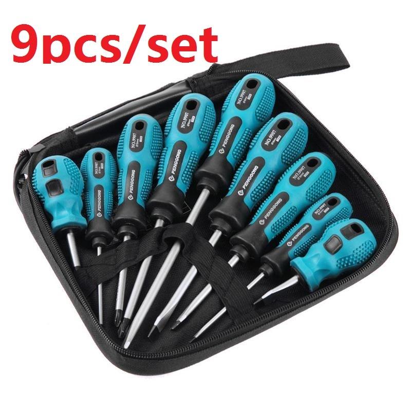 Juego de destornilladores 4/9 unids/set 9 en 1 herramientas Multi-Bit reparación Torx destornillador destornilladores Kit hogar útil Multi herramienta de mano Dropship