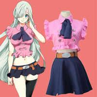 Disfraz Cosplay de los siete pecados capitales Elizabeth Liones Anime japonés Nanatsu No Taizai uniforme traje ropa