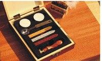 Güney Kore yaratıcı hediyeler mum mühür Seti, Vintage ahşap balmumu damga, işçiliği için pullar