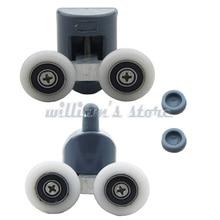 8 قطعة بكرات باب الدش المزدوج/العدائين/العجلات العلوية أو السفلية عجلة 23 مللي متر