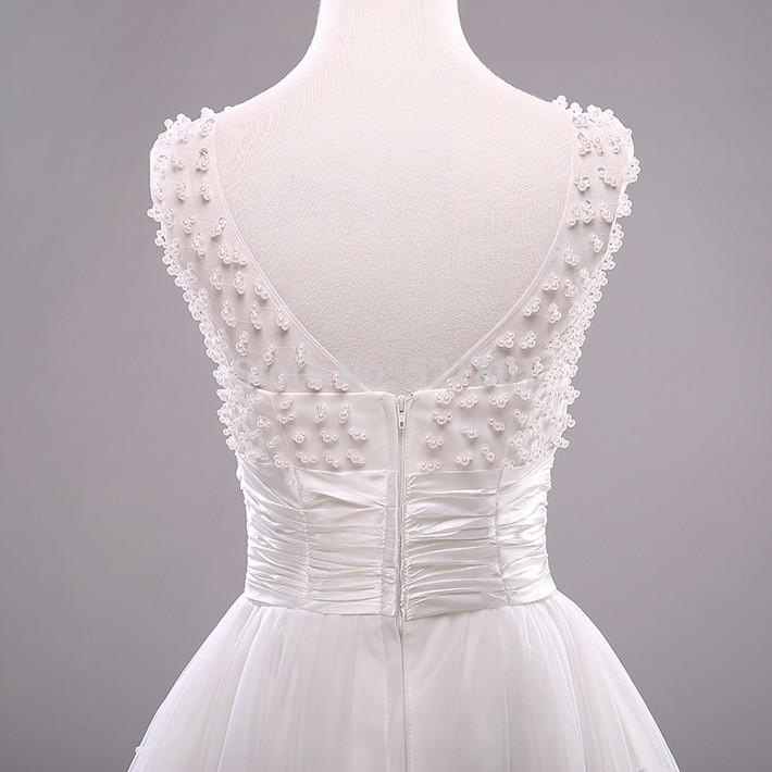 Vintage Lace Beading Short Wedding Dress
