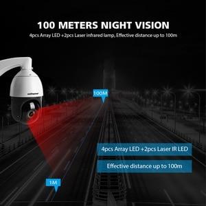 Image 5 - H.265 1080P 5MP PTZ Dome IP Kamera Outdoor POE Audio ONVIF 30X ZOOM Mini High Speed PTZ CCTV Sicherheit kamera 2MP IR 330ft Hisee