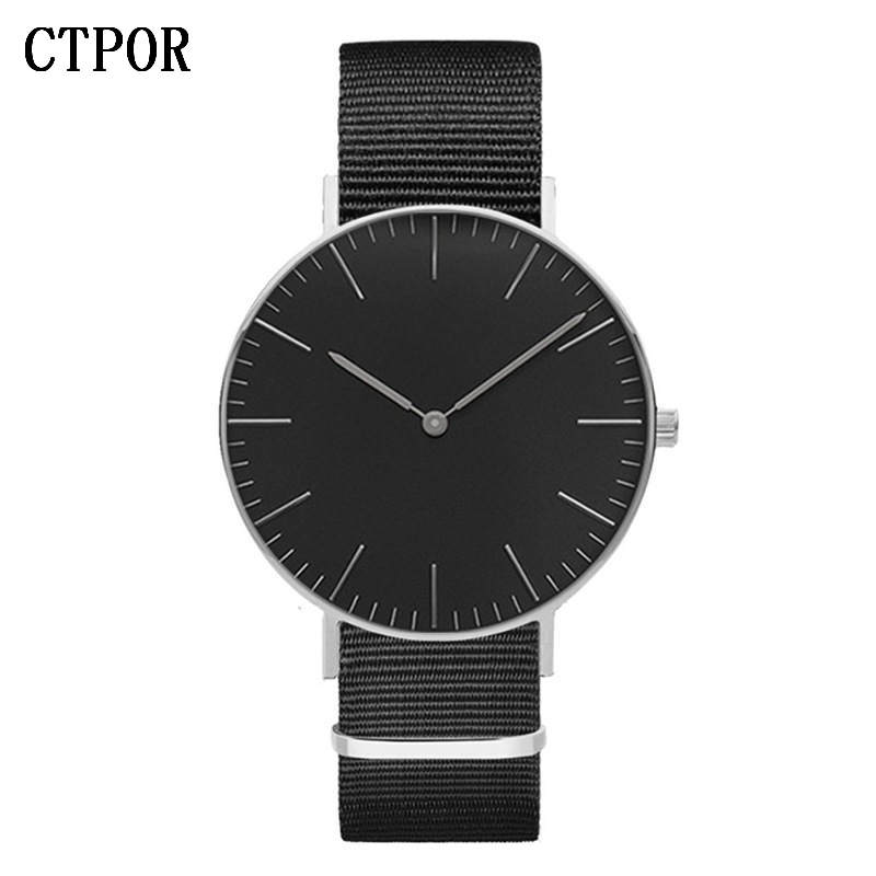 Drop Shipping Watches For Men Women Ultra Slim Quartz Watch with Simple Nylon Band Relogio Masculino Wristwatches Free Shipping sw 80001 quartz watch for women free shipping