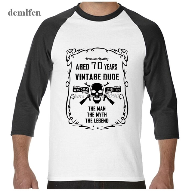 Il Nonno L Uomo Il Mito La Leggenda 70 Anni T Shirt Degli Uomini