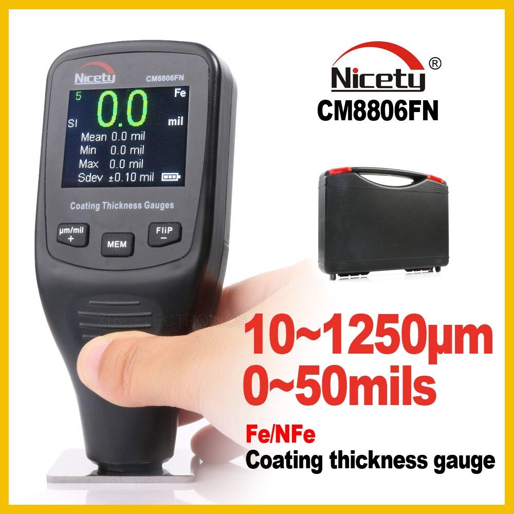 Feinheit Automotive Autolack Dickenmessgerät Messgeräte von Farbe und Lack Film Beschichtung für Autos Meter CM8806FN Fe NFe 2 in 1