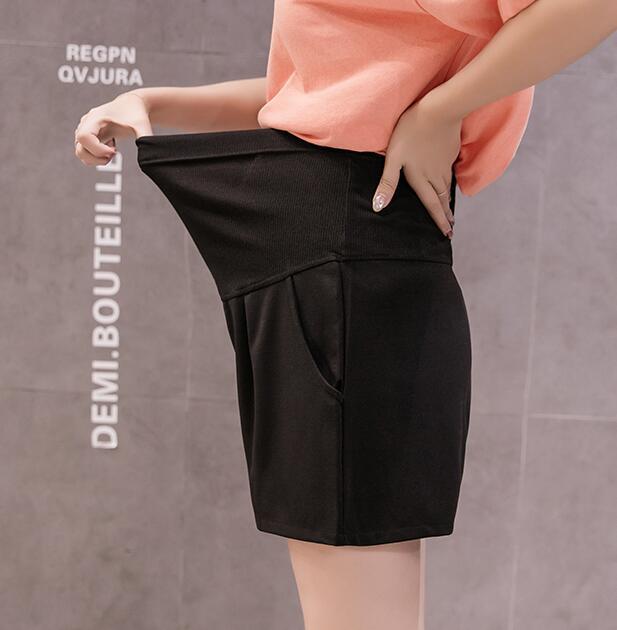 Лидер продаж, летние шорты для беременных женщин, хлопковые Лоскутные кружевные шорты с высокой талией, шорты для беременных, милые короткие штаны - Цвет: 966a
