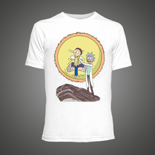2016 cool Tiny Rick und Morty männer t-shirt sommer Anime T-shirts Weiß Fitness Cartoon Fitness Lustige t-shirt homme