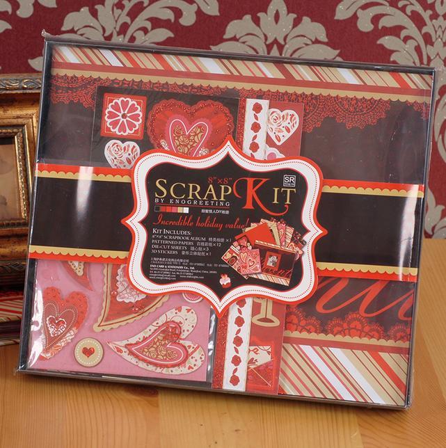 İsti satış DIY Albom Scrapbooking Qırmızı Bənövşəyi - Ev dekoru - Fotoqrafiya 4