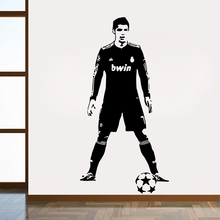 Large CR7 Ronaldo Real Madrid Removable Wall Sticker For Living Room Decals Decor bedroom Art Murals