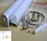 High Quanlity Aluminium Surface Mounted LED Strip Light Profile Anodised Silver Available For 1 3m Free