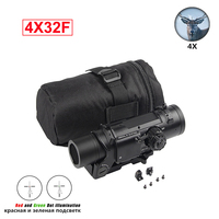 Quick Detachable Tactical 4x Fixed Dual Role Optic Rifle Magnificate 4X32 Scope Fit 20mm Weaver Picatinny Rail Hunting Airsoft