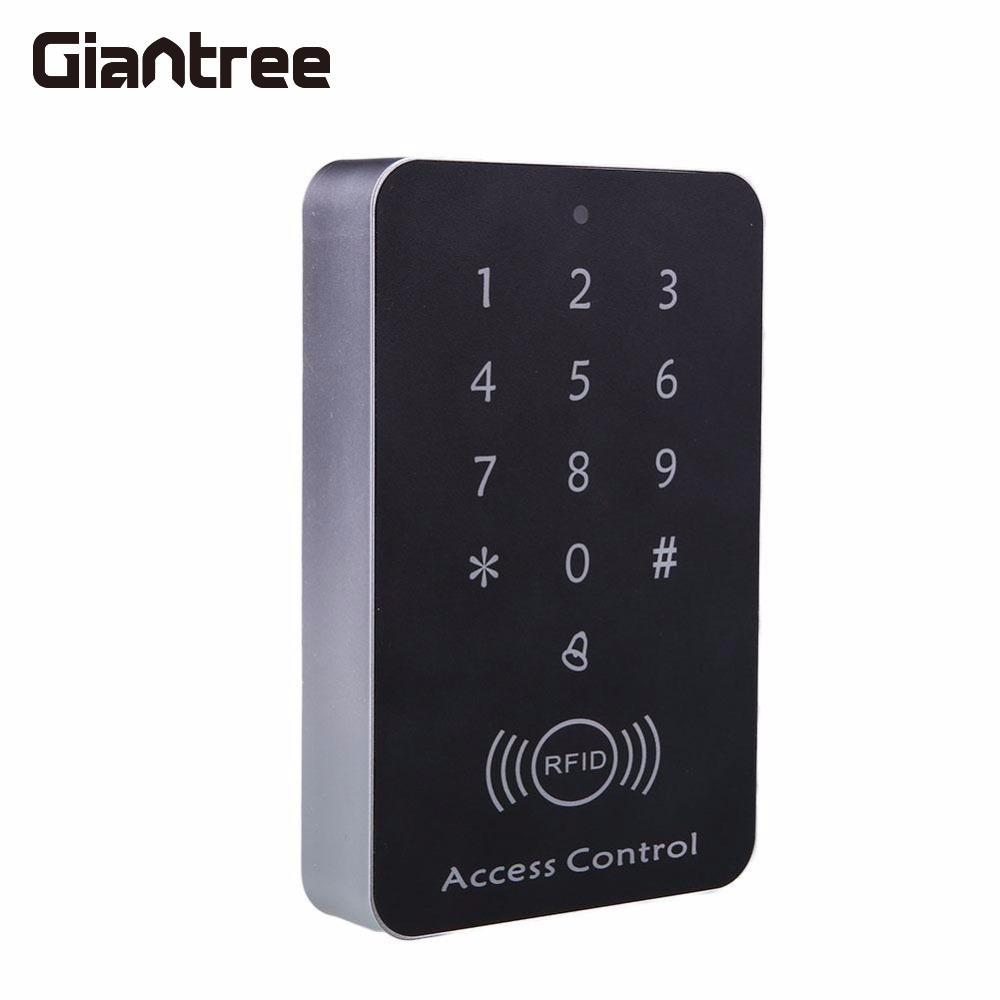 Giantree 125KHz 12V RFID ID Card Password Access Controller Machine + Access Control Keypad RFID Card Keytab Proximity Door Lock diysecur lcd 125khz rfid keypad password id card reader door access controller 10 free id key tag b100