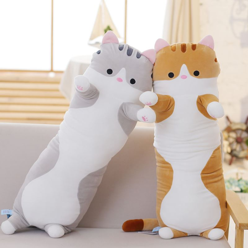 Candice guo plush toy stuffed doll cartoon animal long body cat pig sofa sleeping pillow cushion baby birthday gift present 1pc 65cm plush giraffe toy stuffed animal toys doll cushion pillow kids baby friend birthday gift present home deco triver