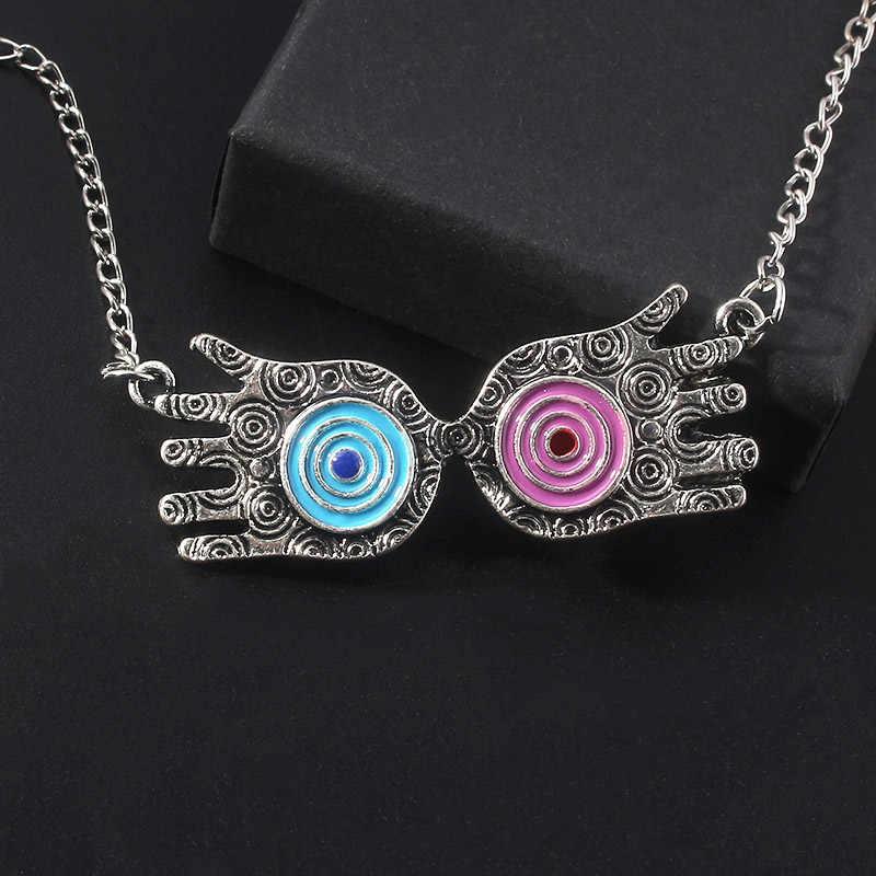 Luna Lovegood gözlük kolye kolye film sihirli okul cadı sihirbazı çift eller kolye erkekler kadınlar için gerdanlık takı