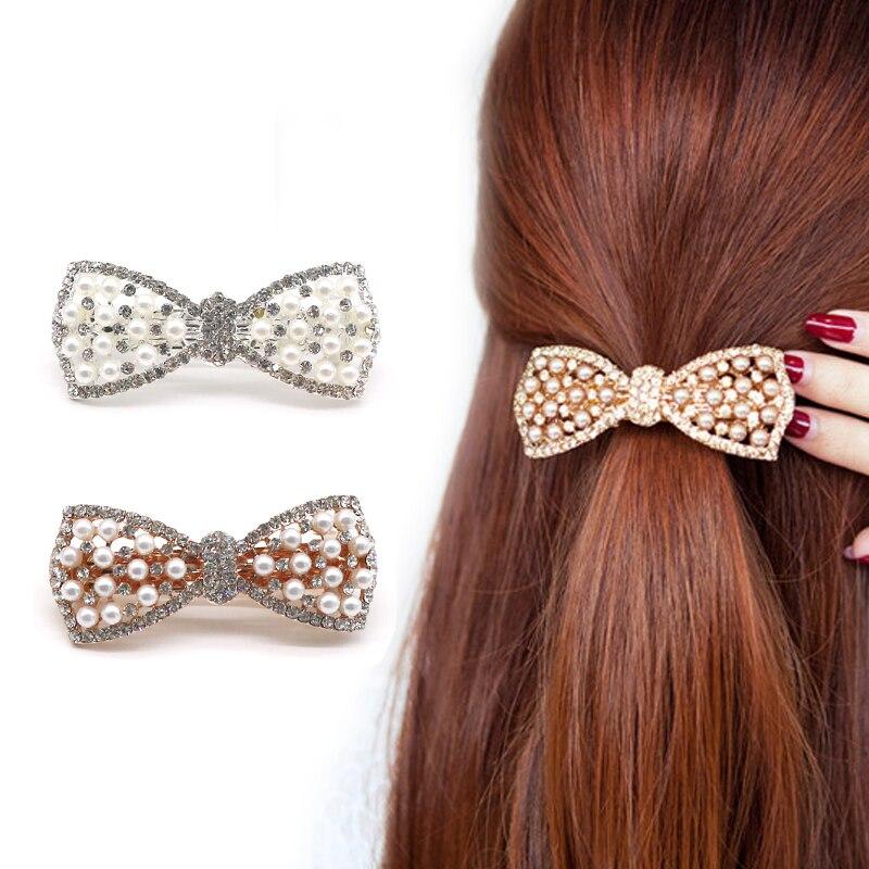 Haar Clips Für Mädchen Strass Schöne Perlen Haarnadeln Haarspangen Headwear Haar Zubehör Für Frauen Schmuck Haar Ornamente Rheuma Und ErkäLtung Lindern