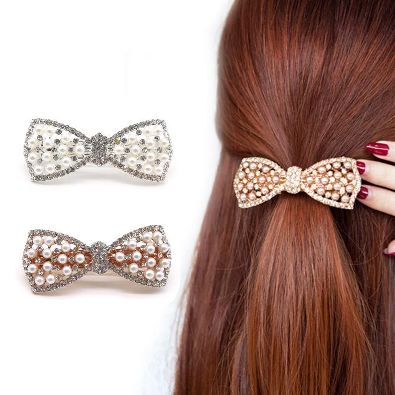 Hair Clips for Girls Rhinestone Beautiful Pearls Hairpins Hairclips   Headwear   Hair Accessories for Women Jewelry Hair Ornaments