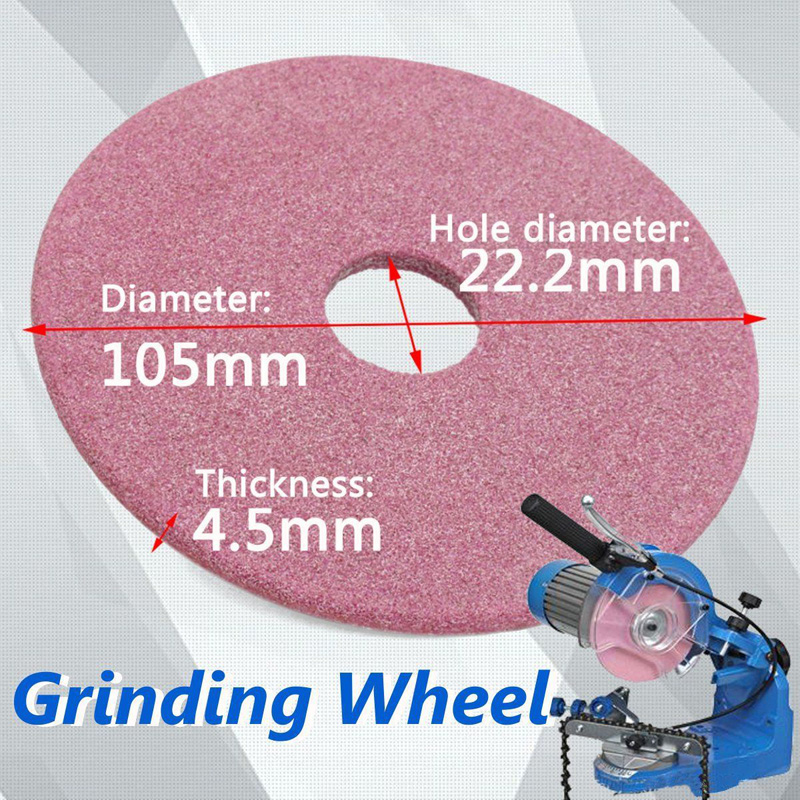 105x4.5mm Pink Non-woven Ceramic Grinding Wheel Disc For Chainsaw Sharpener Grinder 3/8