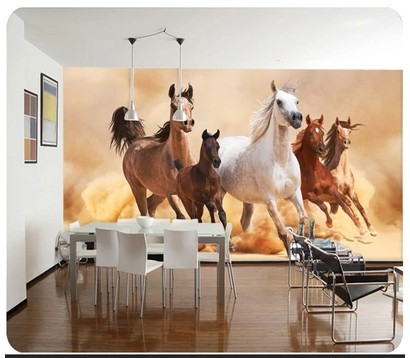 Admirable Aliexpress Com Buy Armored Cavalry Animal Large Mural Wallpaper Largest Home Design Picture Inspirations Pitcheantrous