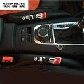 2 unids Congestión Brecha Grieta de Seguridad Interior Del Asiento de Coche Cubierta Interior Del Coche del coche Estancos Costura de La Manga Protectora Para AUDI A4 Styling
