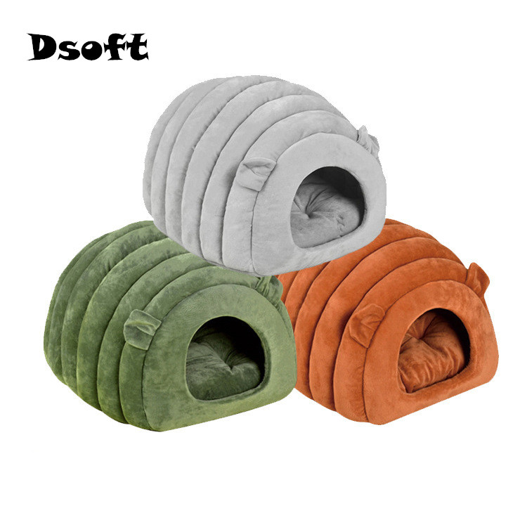 Зимний теплый домик для кошек, кровать для домашних животных, домик для собак, милая мягкая подходящая подушка для домашних животных, домик