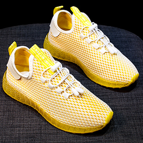 Sneakers Women Sports Shoes Lace-Up Running Shoes Fashion Summer Mesh Round Cross Street Sneakers Walking Shoes Casual Shoes Lahore